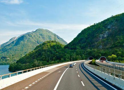 Скоростной автобан в Австрии