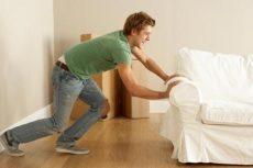 убрать мебель на время ремонта