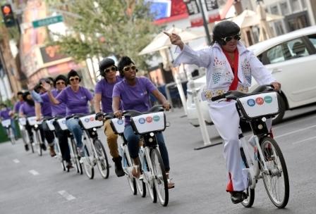 Велосипедист в Мексике