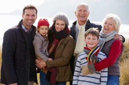 Семья в Новой Зеландии